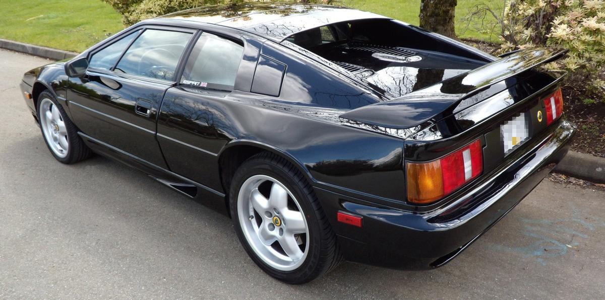 A black sport car