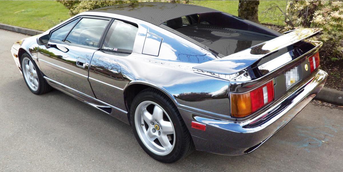 A visual of a chrome sports car