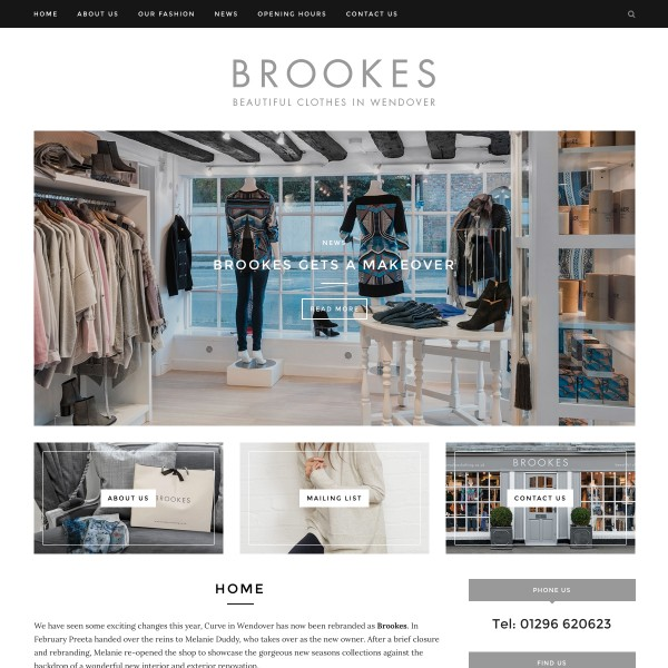 Brookes Clothing website