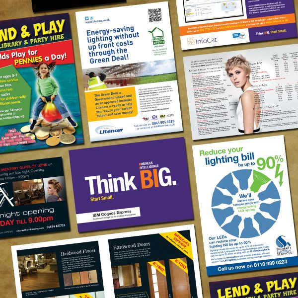 A selection of leaflets and flyer designed and produced by Intrepid